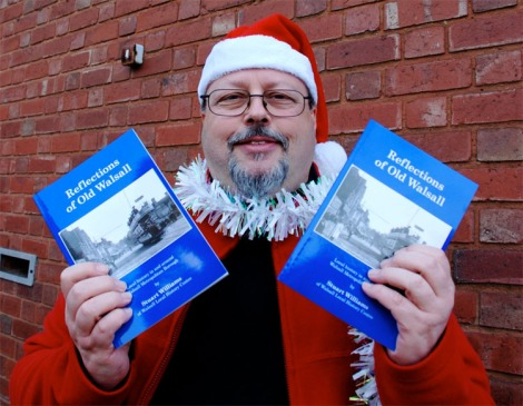 Stuart Williams with his new book Reflections of Old Walsall