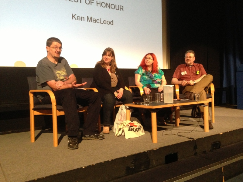 Independent publishers panel Chris Teague, Adele Waring, Theresa Derwin and Jay Eales