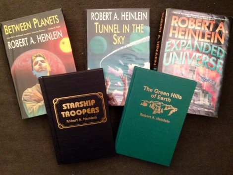 A few of my own more recent Heinlein editions