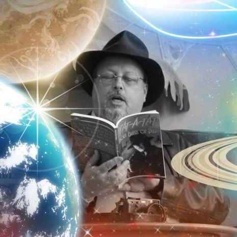 A. Stuart Williams  Reading in Space - photo courtesy Beasty