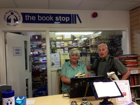 Joyce and Mike, both knowledgeable and friendly Book Stop volunteers