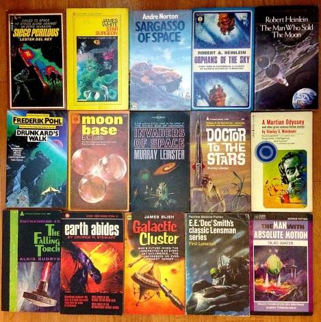 Classic SF paperbacks, yay!