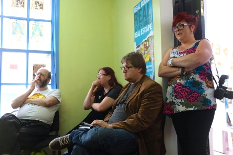 Enthralled: Steve Jones, Theresa Derwin, Adrian Middleton and Lucy Onions