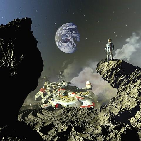 A Fall of Moondust (art by Franco Brambilla)