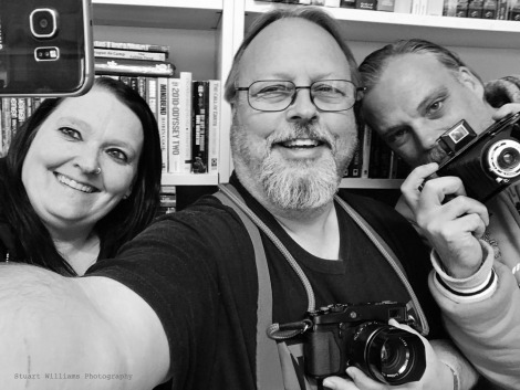 Picture this! Amy, Stuart and Scott at Southcart Books today